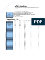 Amway Profit Calculator