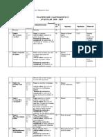 Planificare calendaristica LIMBA FRANCEZA clasa a IV-a