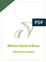 Manual Software Maitre Serie 4 Base