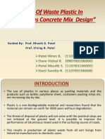 Use of Waste Plastic in Bituminous Concrete Mix