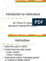 Introduction and History of Horticulture