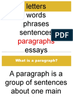 Paragraph and topic sentences