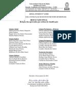 Resultado FINAL - Edital CAEL 12-2020