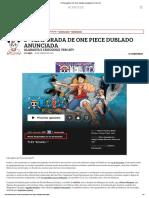 2º Temporada de One Piece Dublado Anunciada _ One Piece Ex