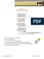 """Ficha de trabalho-Fernando Pessoa- """"Contemplo o Que Não Vejo"""""""