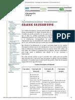 CUADRO DESCRIPTIVO - Tecnologías de la Información y la Comunicación (TIC`s)