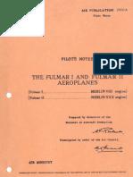 Fairey Fulmar Pilot Notes