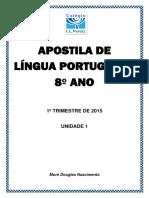 APOSTILA DE LÍNGUA PORTUGUESA 8º ANO