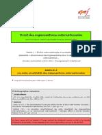 (DOI) (ESE) Leçon n°3 (Les actes constitutifs des OI)