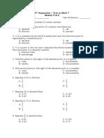 Summative Test in Math Module 5 & 6