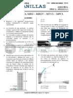 ASESORIA DE FISICA - SEMANA 1 - CINEMÁTICA - MRU – MRUV – MVCL – MPCL