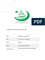 Theory Regarding Plaint and Written Statement-obaid khan 1887036