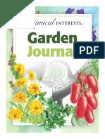 Botanical Interests Garden Journal 2019
