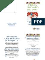CLUB DONANTE UC 2011