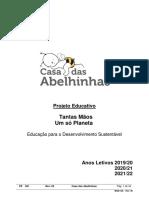 projeto educativo - 2019-2022