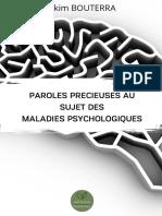 Paroles Precieuses Au Sujet Des Maladies Psychologiques