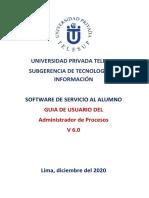 MANUAL DEL ADMINISTRADOR DE PROCESOS V6.0