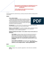 Development + Cross-Cultural Studies Notes