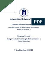 Soft Servicios Privilegio - Gestión de comunicación via telefonica