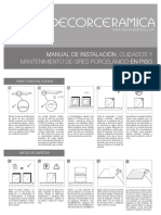 Manual Gres Porcelanico Piso