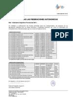Calendario Provisional FEDA 2011