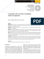 A systematic review of reviews of systematic reviews of acupuncture