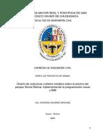 Diseño de Estructura Cubierta Metálica Sobre La Piscina Del Parque Simón Bolívar Implementando La Programación Visual y BIM