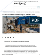 UN officials denounce bombings in northern Syria _ Seven civilians killed in two bombings in northern Syria _ UN News