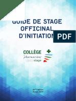 Guide de Stage Officinal 26e Edition 2019