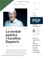 La verdad poética_Carolina Depetris, 2016