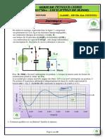 Serie Physique-chimie(RLC-LIBRES+Loi d'Action) +Correction