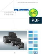 WEG Alternadores Sincronos Linhas g i Plus e Ag10 50048717 Catalogo Portugues Br