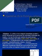 Séparation de la fraction xylène