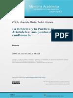 Puntos de Confluencia en La Retórica y La Poética de Aristoteles