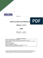 1998_Specialist_Maths_Exam_2