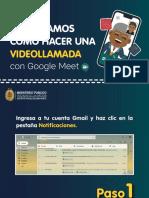 Instructivo _Aprendamos cómo hacer una videollama con Google Meet_