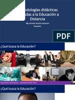 Metodologías Didácticas Aplicadas a La Educación a Distancia