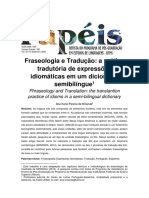 MIRANDA, Ana Karla Pereira de. Fraseologia e Tradução a prática tradutória de expressões idiomáticas em um dicionário semibilíngue