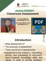 Classroom Assessment (7 December 2020)