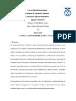 INFORME 1 NORMAS DE SEGURIDAD EN LAB. QUIMICA ANALITICA