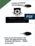 Integration of PSYOP and Intelligence 1997
