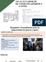 INGRESO AL ECUADOR DE ANIMALES DE COMPAÑÍA (
