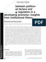 3. Nurunnabi (2015) Tensions between politico institutional factors and accounting regulation in a developing economy
