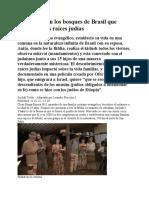 La Comuna en Los Bosques de Brasil Que Descubrió Sus Raíces Judías
