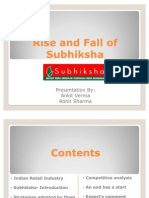 Rise and Fall of Subhiksha