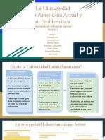 La Universidad LatinoAmericana Actual y su Problematica