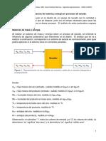 Lectura 1. Balances de materia y energía en procesos de secado