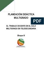 Planeación multigrado Bloque  III