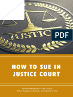 How To Sue In Justice Court