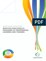 TDSB Effective Practices for Providers of Professional Learning and Training Final